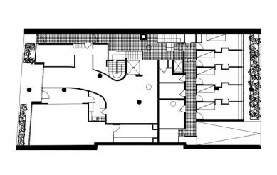 Immeuble Molitor - Půdorys přízemi