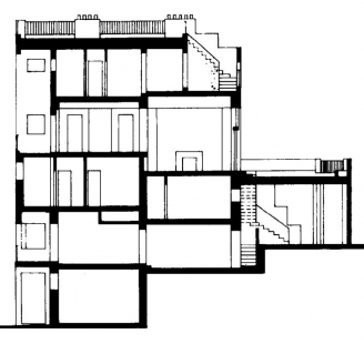 House and studio for Tristan Tzara - Řez
