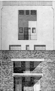 House and studio for Tristan Tzara - Průčelí