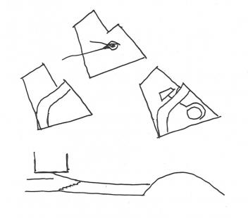 Sídlo francouzské komunistické strany  - Skici O. Niemeyera