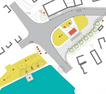 Úpravy centra obce Dolní Město - Situace - foto: Josef Čančík