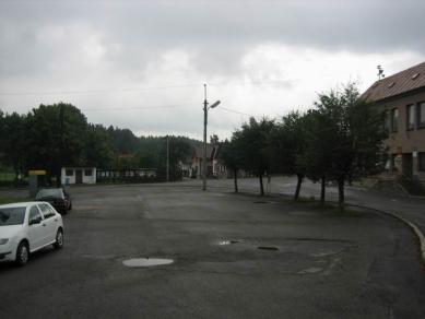 Úpravy centra obce Dolní Město - Původní stav - foto: Josef Čančík