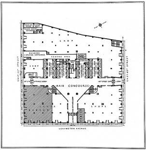 Chrysler Building - Půdorys přízemí mrakodrapu
