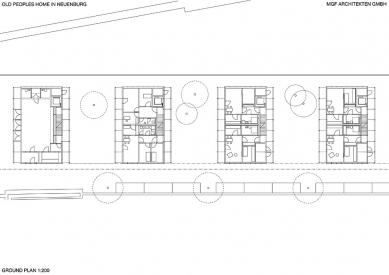 Domy s byty pro seniory - Půdorys přízemí - foto: © Mahler Günster Fuchs, MGF Architekten GmbH