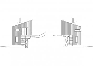 Dům ve svahu - Pohled západní a východní - foto: © Vladimír Balda