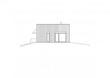 Dům ve svahu - Pohled jižní - foto: © Vladimír Balda