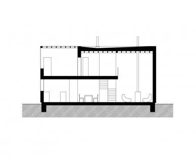 Rodinný dům Svitavy - Podélný řez - foto: © o v - a / opočenský valouch architekti