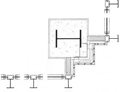 Seagram Building - Detail nároží - foto: archiv redakce