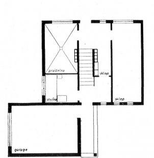 Trojdům v kolonii Nový dům - Půdorys zvýšeného suterénu - foto: archiv redakce