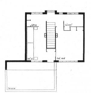 Trojdům v kolonii Nový dům - Půdorys patra - foto: archiv redakce