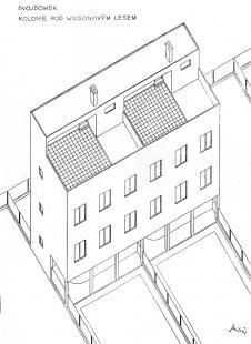Dvojdům v kolonii Nový dům - Axonometrie - foto: archiv redakce
