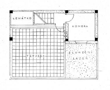 Dvojdům v kolonii Nový dům - Půdorys terasy - foto: archiv redakce