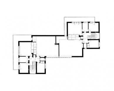 Mistrovské domy - Půdorys patra dvojdomu Klee/Kandinsky - foto: archiv redakce