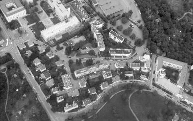 Weissenhofsiedlung - Letecký pohled z ledna 2004 - foto: archiv redakce