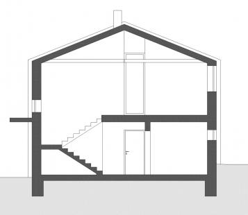 Rodinný dům Strážky - Příčný řez - foto: © 3+1 architekti