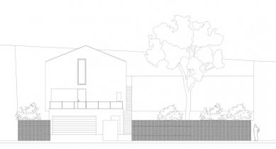 Rodinný dům Strážky - Pohled západní - foto: © 3+1 architekti