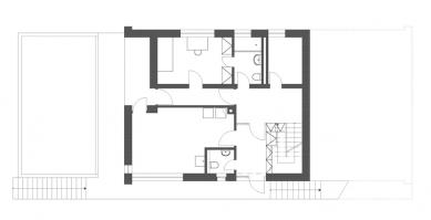 Rodinný dům Strážky - Půdorys 1.N.P. - foto: © 3+1 architekti