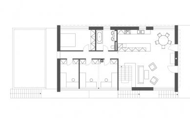 Rodinný dům Strážky - Půdorys 2.N.P. - foto: © 3+1 architekti
