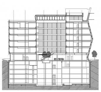 """Administrativní budova """"E"""" - Řez - foto: Aulík Fišer architekti, s.r.o."""