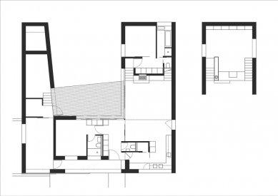 "Rodinný dům ""šnek"" - Půdorysy - foto: LENNOX architekti"