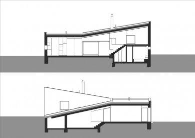 """Rodinný dům """"šnek"""" - Řezy - foto: LENNOX architekti"""