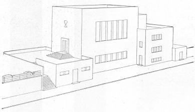 Husův sbor církve československé - Soutěžní návrh: perspektiva - foto: archiv redakce