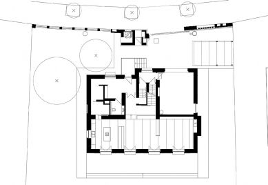 Villa Restoration and Reconstruction, Roztoky  - Půdorys přízemí - foto: © hnilička — císler — architekti
