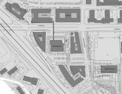Administrativní objekt BBC – Gamma - Situace - foto: Aulík Fišer architekti, s.r.o.