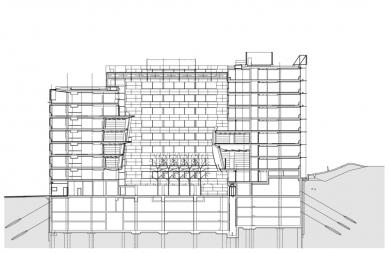 Administrativní objekt BBC – Gamma - Řez - foto: Aulík Fišer architekti, s.r.o.