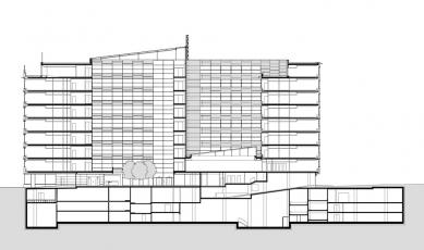 Administrativní objekt BBC - Beta - Řez - foto: Aulík Fišer architekti, s.r.o.