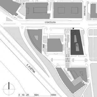 Administrativní objekt BBC - Beta - Situace - foto: Aulík Fišer architekti, s.r.o.