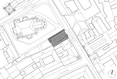 Rekonstrukce Edisonovy transformační stanice - Situace - foto: Architektonická kancelář Lábus