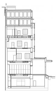 Rekonstrukce Edisonovy transformační stanice - Řez - foto: Architektonická kancelář Lábus