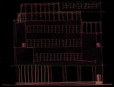 Rekonstrukce Edisonovy transformační stanice - Skica - foto: Architektonická kancelář Lábus