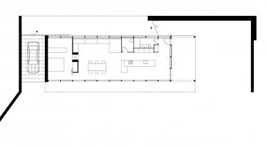 Domek v Bořeňovicích - Půdorys - foto: © Markéta Cajthamlová, Architektonická projekční kancelář