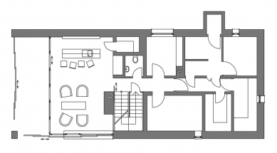 Rodinný dům Záhrabská - 1PP - foto: Jiran Kohout architekti