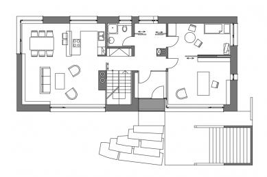 Rodinný dům Záhrabská - 1NP - foto: Jiran Kohout architekti