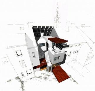 Rodinný dům na náměstí v Nýřanech - Perspektiva - foto: Atelier..