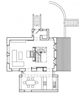 Rekonstrukce a přístavba rodinného domu ve Všenorech - 1NP - foto: Symbio Design