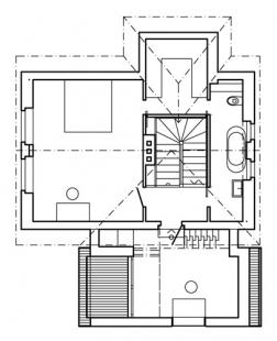 Rekonstrukce a přístavba rodinného domu ve Všenorech - 2NP - foto: Symbio Design