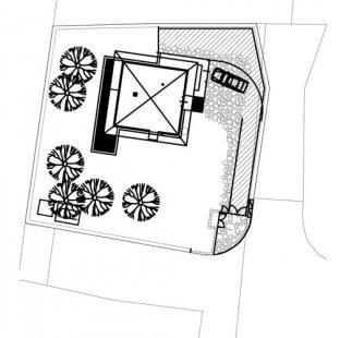 Rodinný dům v Křeslicích - Situace - foto: Jiran Kohout architekti