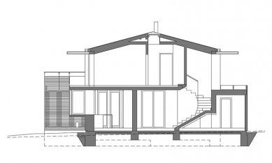 Rodinný dům v Křeslicích - Řez - foto: Jiran Kohout architekti