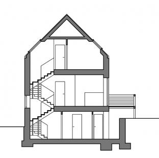 Novostavba rodinného domu ve Zdibech - Řez - foto: Jan Stempel