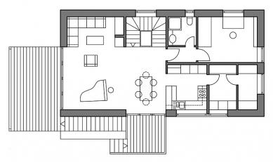 Novostavba rodinného domu ve Zdibech - Přízemí - foto: Jan Stempel