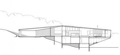 Dům v Cape Schanck - Řez - foto: Jackson Clements Burrows Pty Ltd Architects