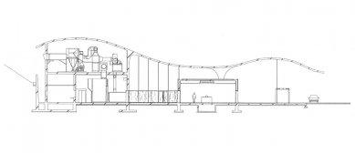 Krematorium v Kakamigahara - Řez - foto: © Toyo Ito and Associates, Architects