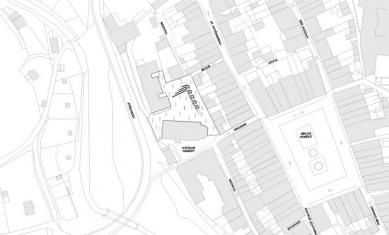 Rekonstrukce Kostelního náměstí v Broumově - Situace - foto: David Chmelař architekti