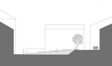 Rekonstrukce Kostelního náměstí v Broumově - Řez - foto: David Chmelař architekti