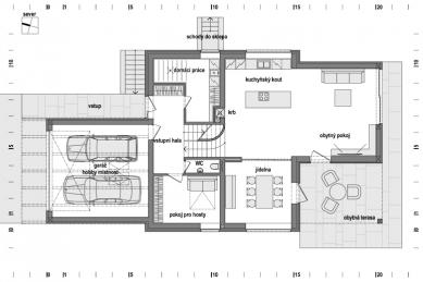 Rodinný dům u potoka - 1NP
