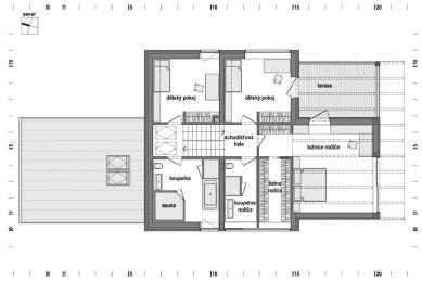Rodinný dům u potoka - 2NP